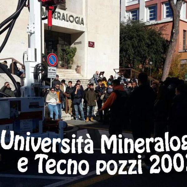 Università Mineralogia e Tecno pozzi Introduzione teorica e pratica delle nuove tecniche di perforazione