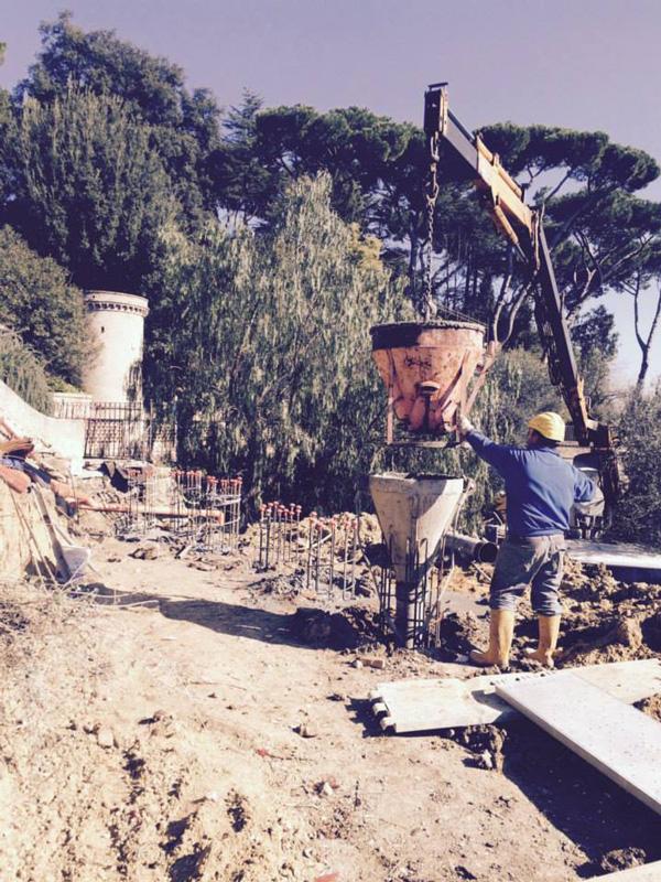 consolidamento del castello di Via Aurelia tecno pozzi 2002 trivellatori roma