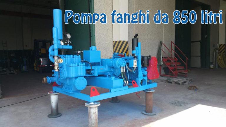 Pompa fanghi da 850 litri tecno pozzi 2002 srl trivellazione pozzi artesiani roma