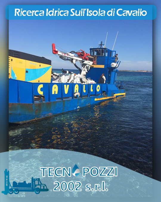 Ricerca idrica captazione acqua dolce Isola di Cavallo Corsica