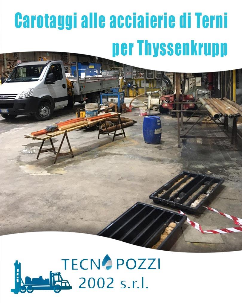 Carotaggi alle acciaierie di Terni per Thyssenkrupp Prezzi Pozzi Artesiani